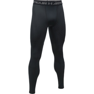 Under Armour Men's Striped Compression Leggings - Black