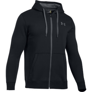 Under Armour Men's Rival Fitted Full Zip Hoody - Black