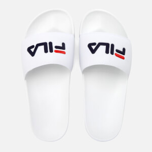 FILA Drifter Slider Sandals - White/Navy/Red