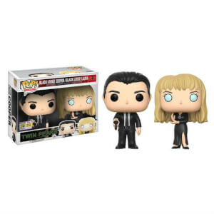 SDCC 17 Twin Peaks Black Lodge Cooper and Laura Pop! Vinyl Figure 2 Pack