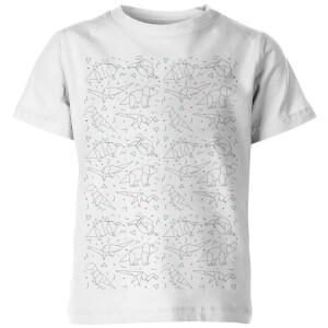 T-Shirt Enfant Origami Dinosaure - Blanc