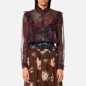 Coach Women's Horse Print Western Blouse - Black/Multi