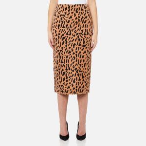 Diane von Furstenberg Women's Tailored Midi Pencil Skirt - Belmonth Camel