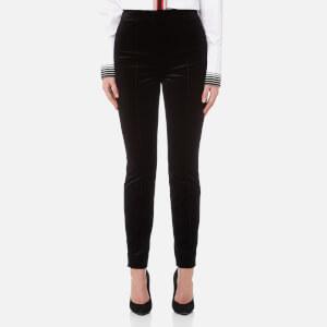 Diane von Furstenberg Women's Velvet High Waist Skinny Pants - Black