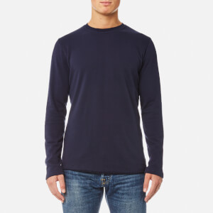 Edwin Men's Terry Long Sleeve T-Shirt - Navy