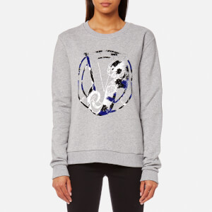 Versace Jeans Women's Gym Logo Jumper - Grey Melange