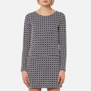 Joules Women's Roya Jersey Jacquard Tunic with Pockets - Navy Cream Geo