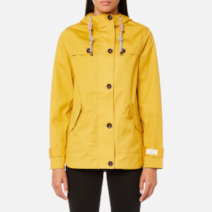 Joules Women's Coast Waterproof Hooded Jacket - Antique Gold