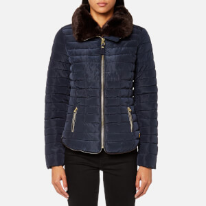 Joules Women's Gosfield Short Padded Coat - Marine Navy