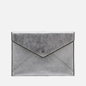 Rebecca Minkoff Women's Leo Metallic Clutch Bag - Gunmetal