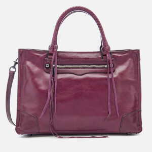 Rebecca Minkoff Women's Regan Satchel Distressed Tote Bag - Dark Cherry