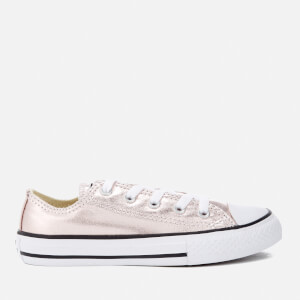 Converse Kids Chuck Taylor All Star Metallic Ox Trainers - Rose Quartz/White/Black