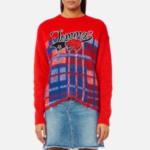 Tommy Hilfiger Women's Alekza Heritage Crew Neck Sweater - Red