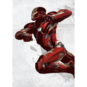 Marvel Comics Metal Poster - Civil War United We Stand Iron Man (68 x 48cm)