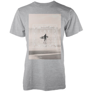 Native Shore Men's Free Surf Graphic T-Shirt - Light Grey Marl