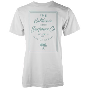 T-Shirt Homme California Surfwear Co. Native Shore - Blanc