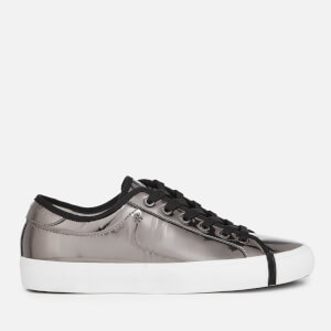 Armani Exchange Women's Chrome Look Low Top Trainers - Gun Metal