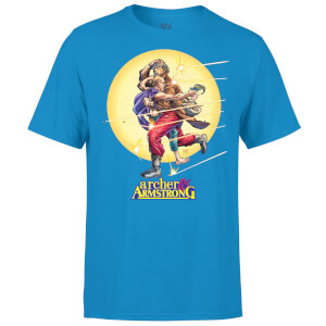 Valiant Comics Classic Archer and Armstrong Running Graphic T-Shirt - Blue