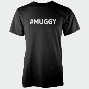 Hashtag Muggy Men's Black T-Shirt