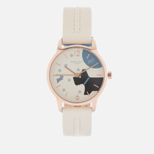 Radley Women's Over the Moon Leather Watch - Cream