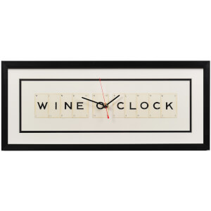 Vintage Playing Cards Wine O Clock Framed Clock