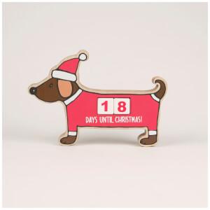Sass & Belle Christmas Dachshund Advent Calendar Block