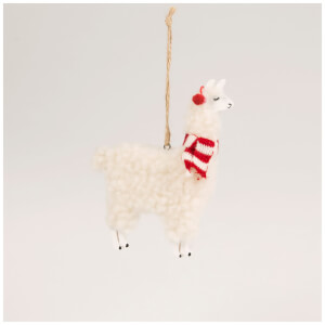 Sass & Belle Festive Llama Hanging Decoration