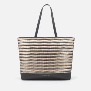 Armani Exchange Women's Small Woven Tote Bag - Black