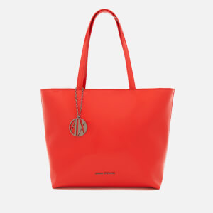 Armani Exchange Women's Patent Tote Bag - Poppy Red