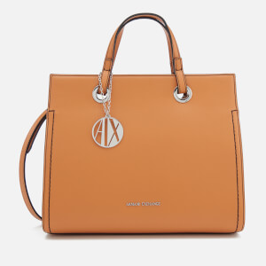 Armani Exchange Women's Structured Tote Bag - Light Brown