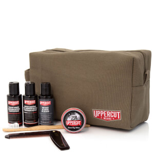 Uppercut Deluxe Wash Bag - Filled Army Green (Worth £48.00)