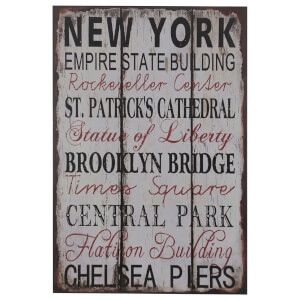 New York Wall Plaque
