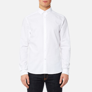 Calvin Klein Men's Gallen Washed Oxford Shirt - White