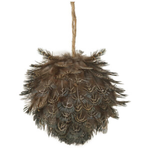 Parlane Feather Hanging Decoration (10 x 10cm) - Brown