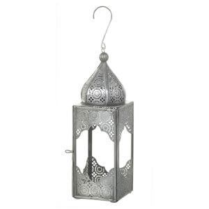 Parlane Dades Lantern (24 x 8cm) - Silver