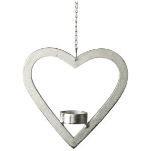 Parlane Heart Hanging Tealight Holder (18 x 18cm) - Aluminium