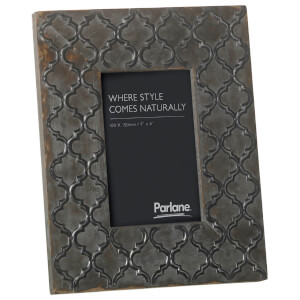 Parlane Mahi Embossed Photo Frame (26 x 20cm) - Grey