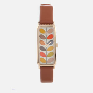Orla Kiely Women's Stem Leather Watch - Brown