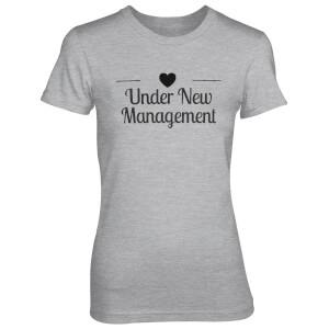Under New Manegement Women's Grey T-Shirt