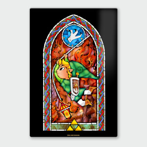 Nintendo Legend Of Zelda Grappling Hook Chromalux High Gloss Metal Poster