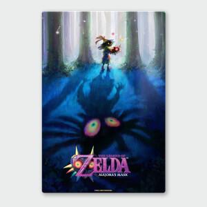 Affiche en Métal Vernis Nintendo Chromalux Legend of Zelda Majoras Masque Forêt