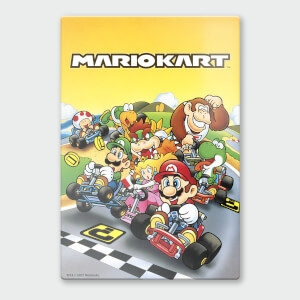 Nintendo Mario Kart 1 Chromalux High Gloss Metal Poster
