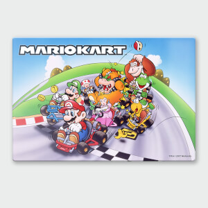 "Póster Chromaluxe Metal Brillante Nintendo ""Mario Kart 2"""