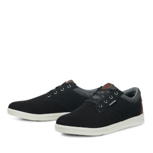 Jack & Jones Men's Gaston Canvas Mix Trainers - Anthracite