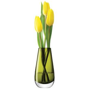 LSA Flower Bud Vase - 14cm - Olive