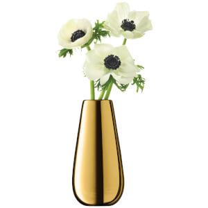 LSA Flower Metallic Bud Vase - 14cm - Gold