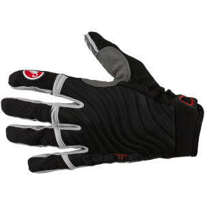 Castelli CW 6.0 Cross Gloves - Black/Luna Grey