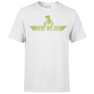 Nintendo Mario Kart Yoshi Here We Go Men's White T-Shirt