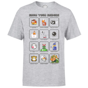 Nintendo® Know Your Enemies Heren T-shirt - Grijs