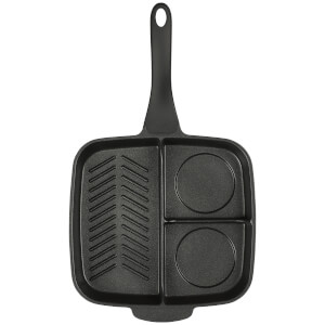Gentlemen's Hardware Multi Section Frying Pan - Black: Image 3